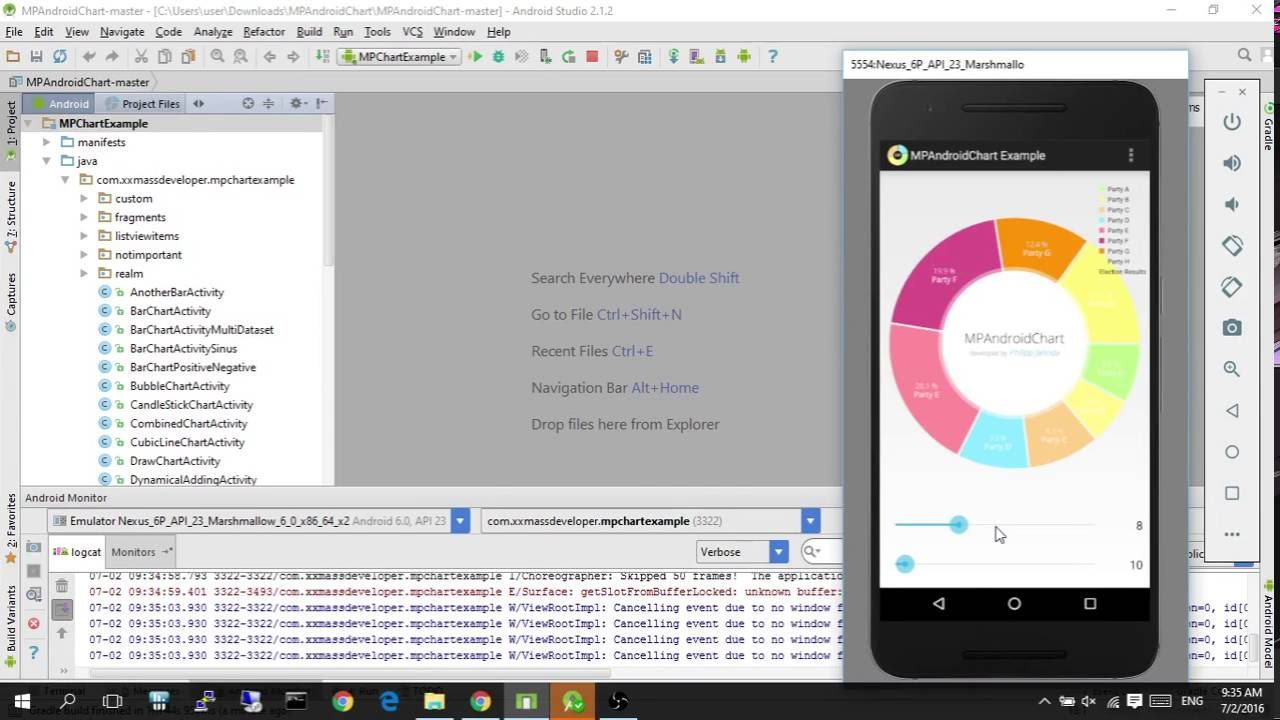 Mpandroidchart a powerful android chart view graph view library