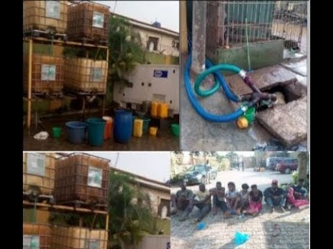 How A Lagos Hotel Stole Petrol From A Pipeline In Their Compound As Army Destroys Their Properties