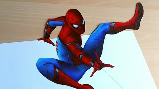 3D Drawing: Spider-Man Homecoming