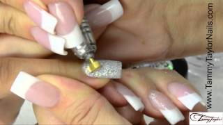 ♡ Tammy Taylor Channel Set Platinum and Diamonds Nail Design