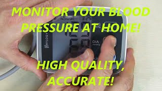 REVIEW of HYLOGY Blood Pressure Monitor Cuff 8.7 to 12.6 Inch Large Screen Display 2 Users