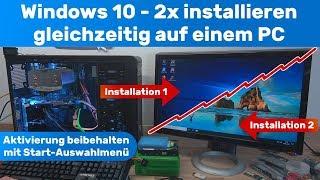 Windows 10 2x installieren gleichzeitig auf einem PC mit Auswahlmenü - wird Windows schneller?