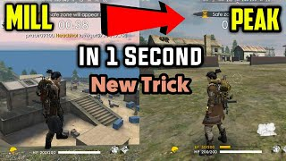 Mill to peak in one second ll free fire tips and tricks ll Garena free fire