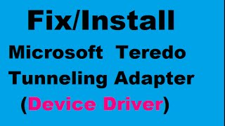 driver Teredo Tunneling Pseudo Interface Windows 7