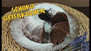 SCHOKO GRIEßKUCHEN BACKEN | schnelle Kuchen ohne Ei selber machen [vegan mögl.] | Kuchenrezepte