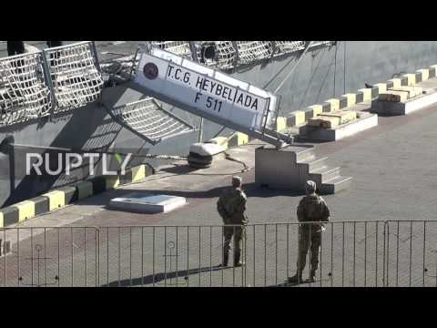 Ukraine: Turkish frigates arrive in Odessa port