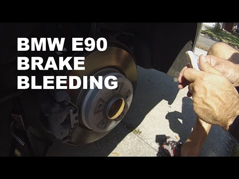 BMW E90 Brake Bleeding  YouTube