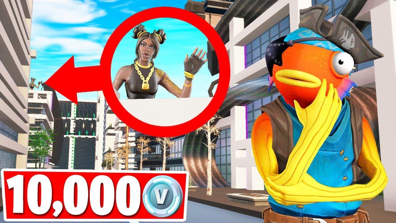 GIVING A FAN 10000 VBucks HIDE  SEEK Gamemode Fortnite