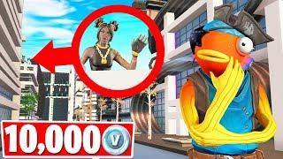 GIVING A FAN 10,000 VBucks! HIDE & SEEK Gamemode (Fortnite Creative)