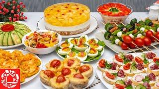МЕНЮ на День Рождения Готовлю 9 блюд Рецепты на ПРАЗДНИЧНЫЙ СТОЛ Торт Салат Закуски