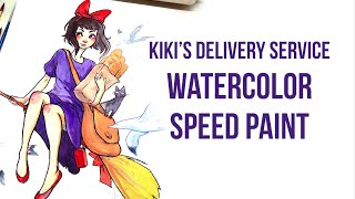 kiki s delivery service watercolor painting