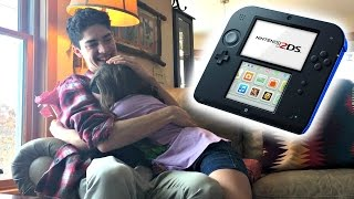 Mom wouldn't get her this for Christmas so big brother did! (SUPER CUTE REACTION) thumbnail
