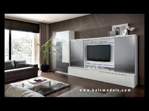 Salones modernos mobiliario baixmoduls programa mileniumplus ambientes youtube - Ambientes salones modernos ...
