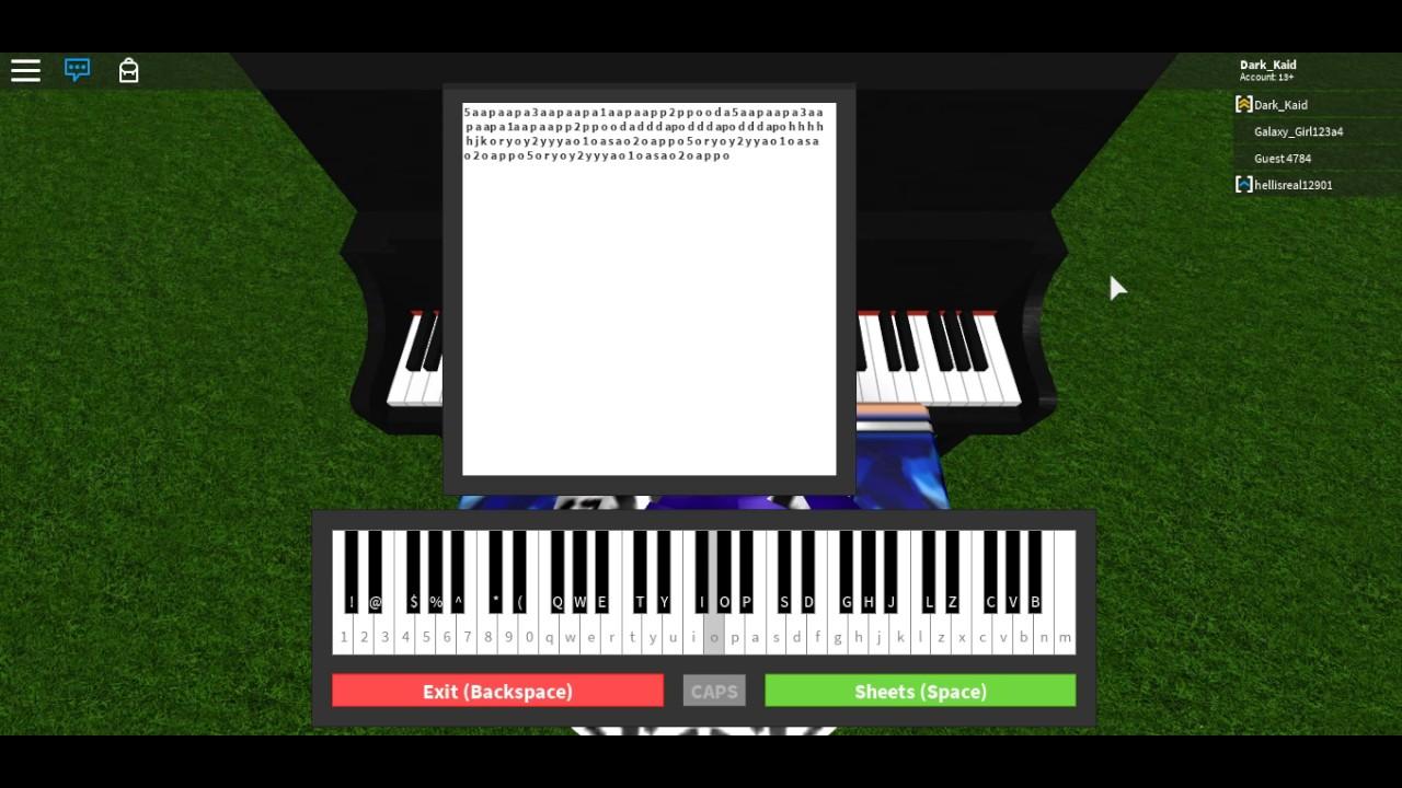 call me maybe piano sheet music roblox