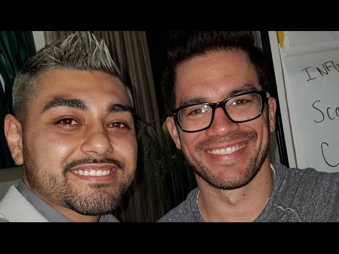 Manny Lopez with Tai Lopez at Tai's mansion in Beverly Hills