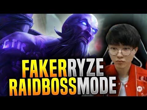 Faker Raidboss Mode with Ryze! - SKT T1 Faker SoloQ Playing Ryze Mid! | SKT T1 Replays