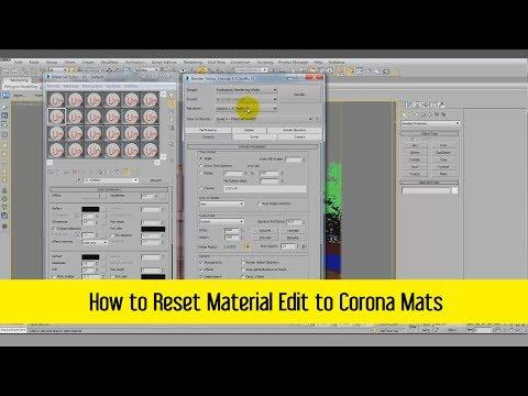 How to Reset Material Edit to Corona Mats