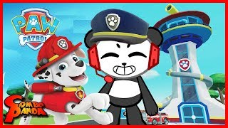 Paw Patrol on a Roll PUPPY HEROES ! Let's Play with Combo Panda