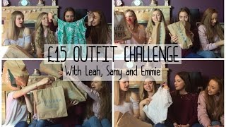 One of Simply Katie's most viewed videos: £15 OUTFIT CHALLENGE - With Leah, Emmie and Samy BEST FRIEND EDITION / Simply Katie