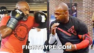 MIKE TYSON VS. ROY JONES JR. SIDE-BY-SIDE COMEBACK TRAINING COMPARISON - POWER & SPEED AGES 54 & 51