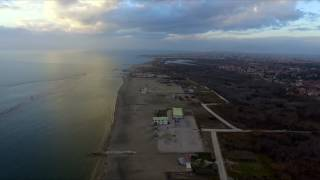 December Sun Castel Volturno Baia Verde Beach flight Napoli DJI Phantom 3
