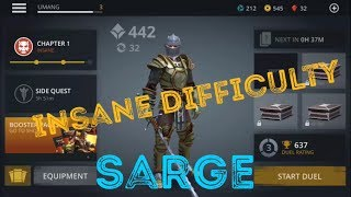 Shadow fight 3 trick to defeat sarge in insane difficulty