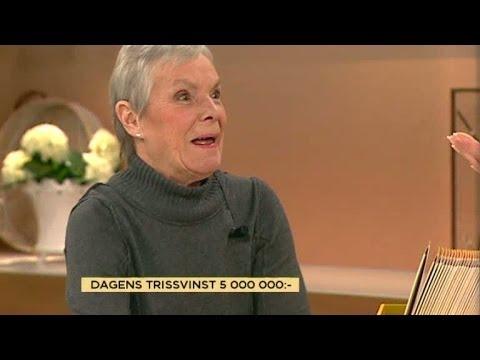 Här vinner Birgitta fem miljoner på triss - Nyhetsmorgon (TV4)