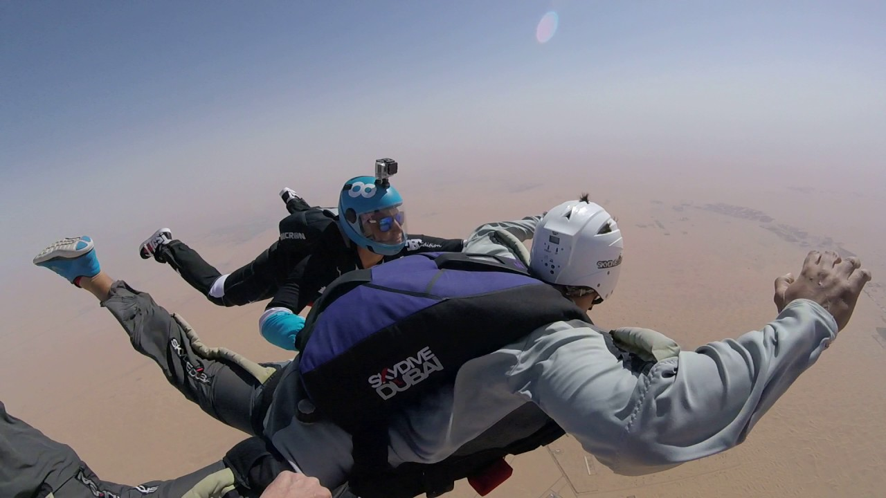 First Solo Skydiving Jump Aff Certification Skydive Dubai