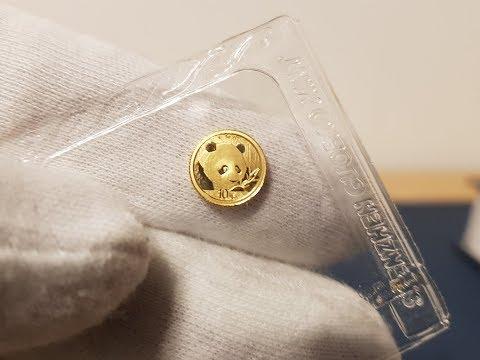 1g Chinese Panda Gold Bullion Coin 2018