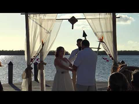 Fl Keys Destination Wedding/Islamorada Fish Co Wedding Venue/ Mr. & Mrs Huntoon