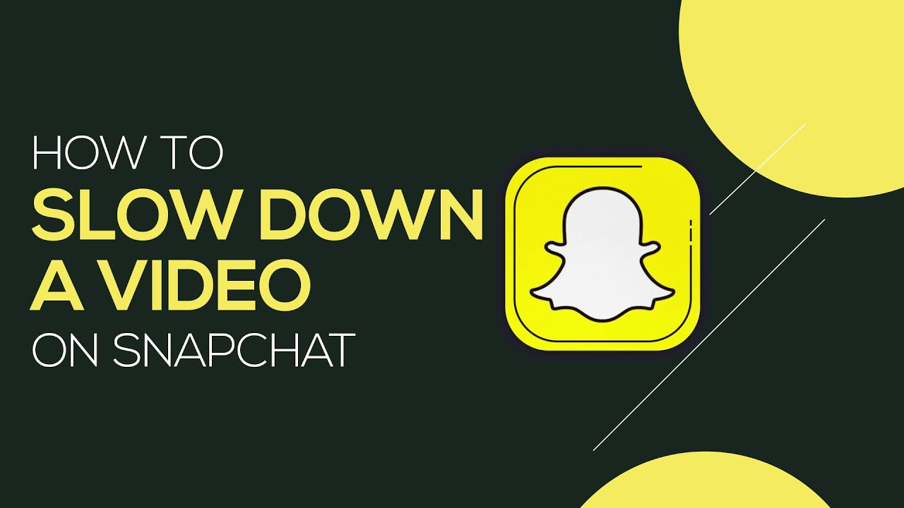 How To Make Slow Motion Video On Snapchat Easily Reduce The Speed Of Your Video Youtube