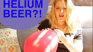 How does Helium Beer make our voice squeaky?