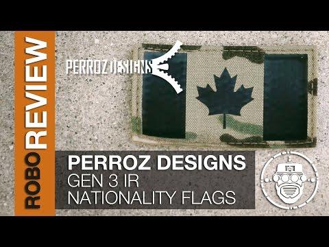 Robo-Airsoft: Robo Gear Review - Perroz Designs IR Nationality Flag Generation 1/2/3 Comparison