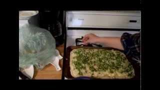 Cooking - Spinach Artichoke Garlic Pizza - White Sauce Vegetarian