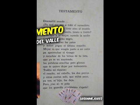 Testamento | Hector del Valle