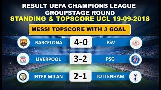Liverpool vs PSG Result Uefa Champions League 2018 - Standings & Topscore UCL 2018
