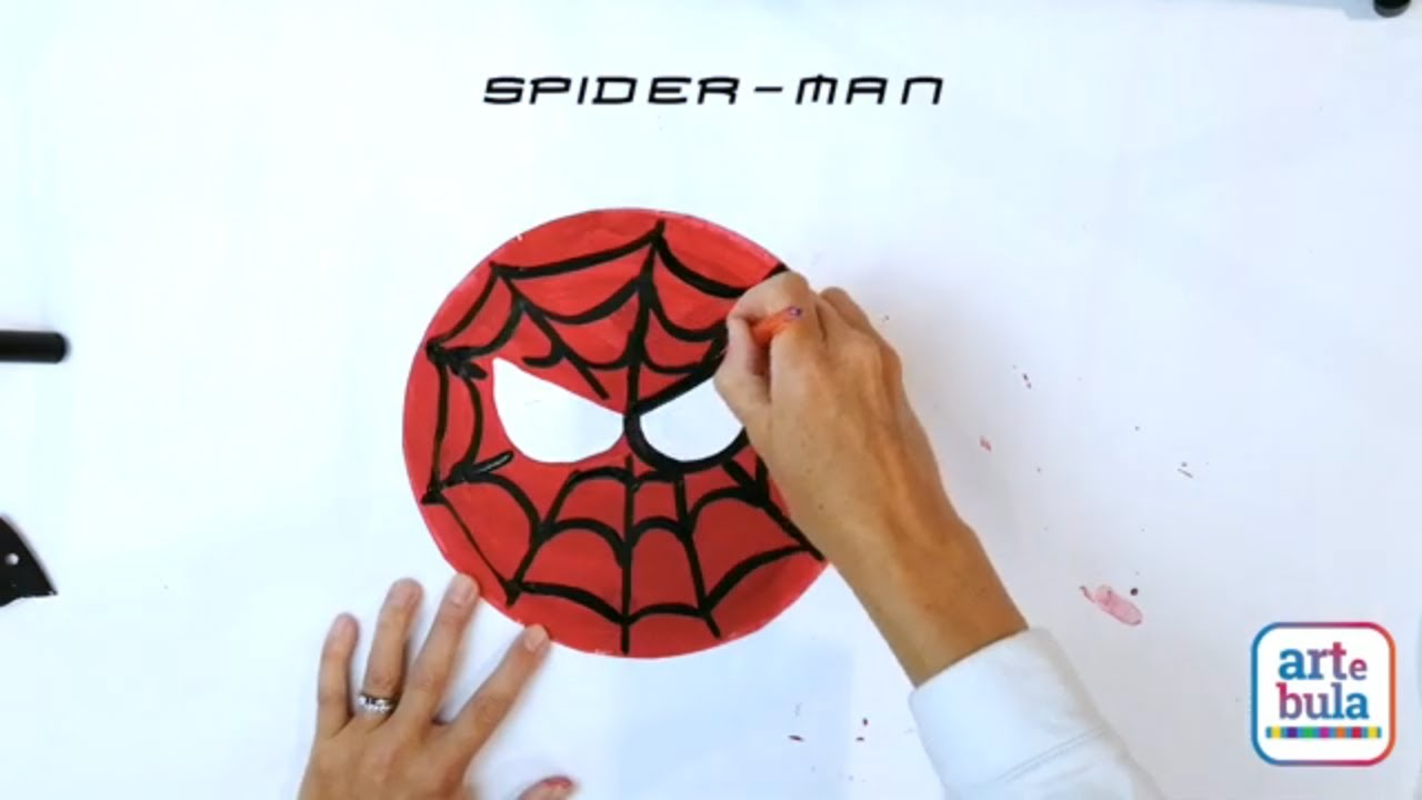 Make a Spider-Man Paper Plate Mask