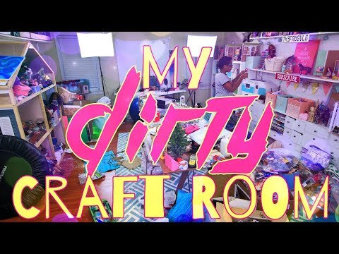 My DIRTY Craft Room | The Frog Vlog with Froggy