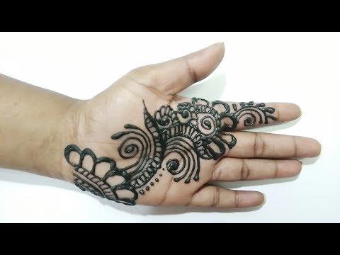 Flower Pattern Mehndi Designs : Arabic mehndi flower round pattern for front hand floral henna