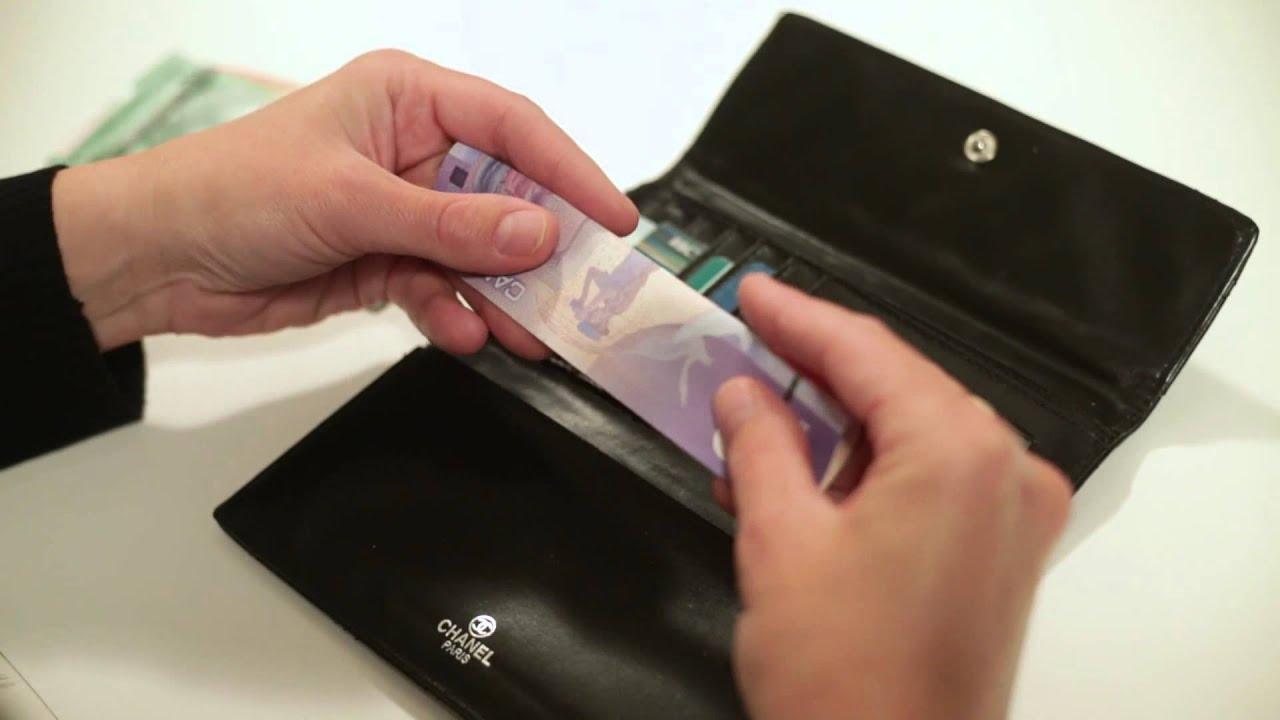 conseils pour ranger les billets de banque canadiens en. Black Bedroom Furniture Sets. Home Design Ideas