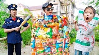 Kiều Anh gặp phải Boss Nhí ❤ Dạy Trẻ Ứng Phó Khi Gặp Người Xấu - Trang Vlog