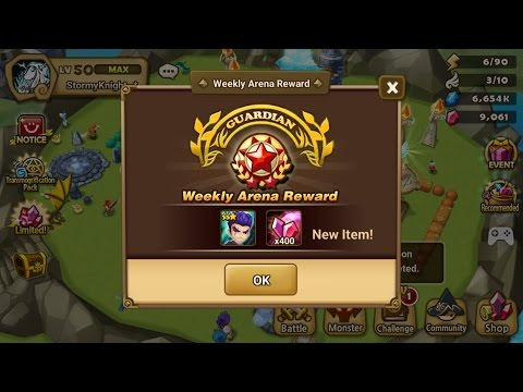 Summoners War: Rush Hour Arena G2 ( Guardian 2) Top100 Asia