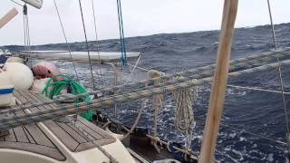 Sailing downwind  in the Indian Ocean