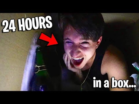 The Real 24 HOUR MAIL MYSELF IN A BOX CHALLENGE! Killer Clown SCARE PRANK on Girlfriend!