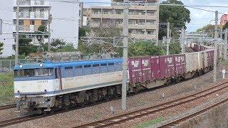 【JR貨物】遅2071レ EF81-454 ランテック積載
