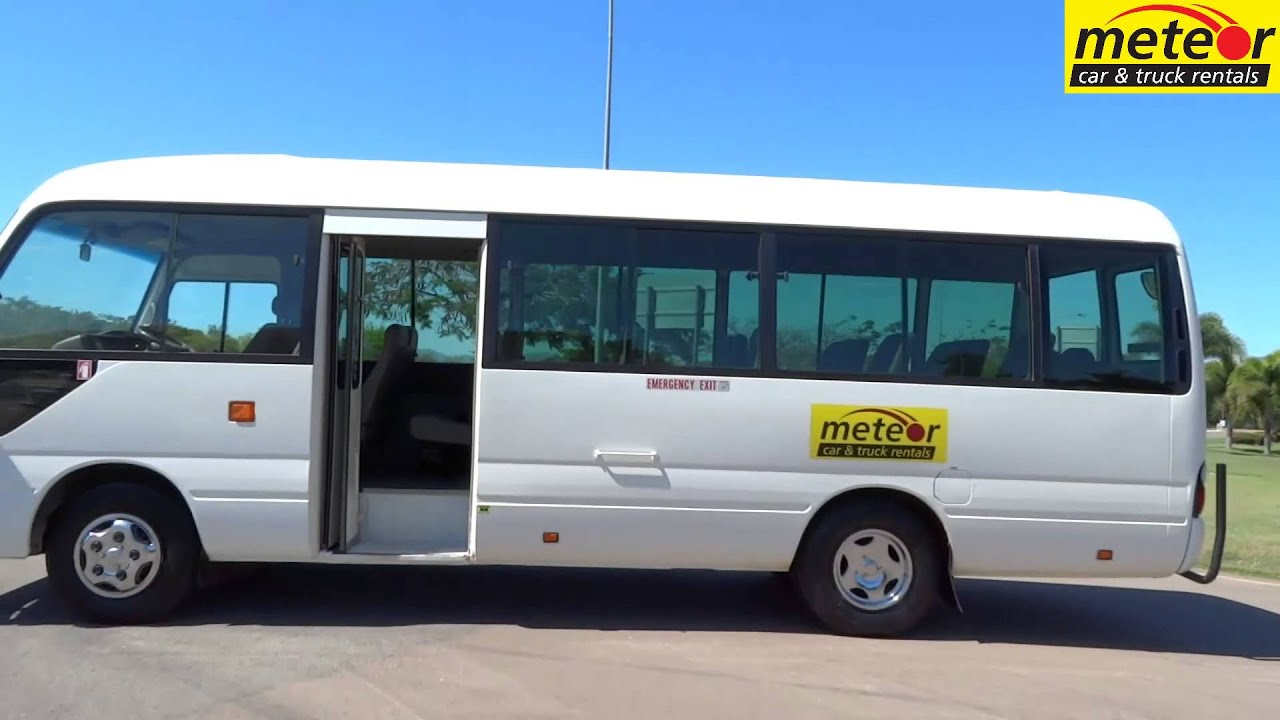 U2057 Toyota Coaster 21 Seat Cairns Townsville Mackay Mt