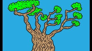 How to Draw Trees with Hidden Letters