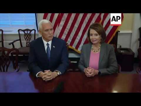 Pence Meets with Democratic Leaders
