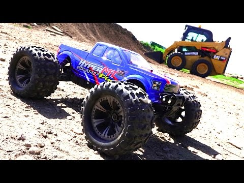 RC ADVENTURES - HOBAO HYPER MT Sport Plus 4x4 on 4S LiPO & RC Skid Steer w/ TORC Robotics