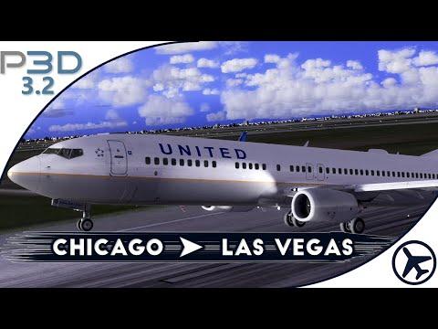 [P3Dv3] PMDG 737 | Chicago - Las Vegas [IVAO]